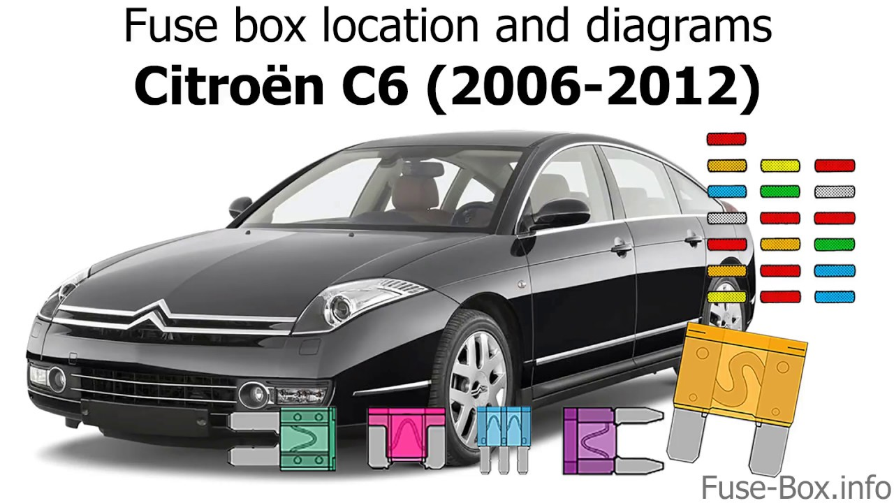 fuse box location and diagrams citroen c6 (2006 2012) C6 Transmission Valve Body Diagram
