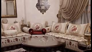 أخر تصاميم الصالون المغربي وجديد اثواب طلامط غاية في الأناقة 2017