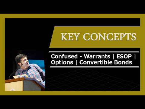 Difference between Convertible Bonds, Warrants, Options, ESO