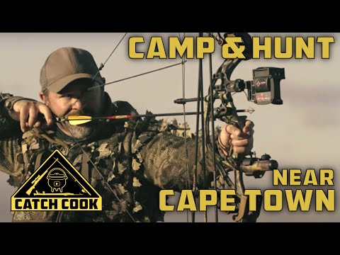 Camp, Catch Cook, Bow Hunt at Hartebeest Kraal near Cape Town, South Africa