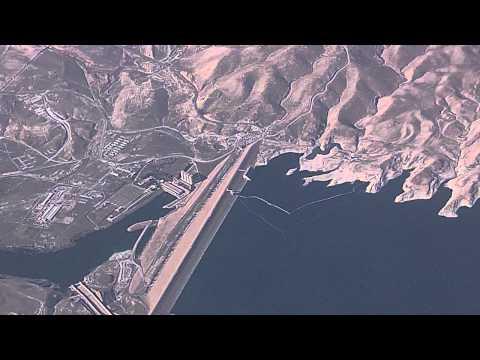 Mosul Dam,Tigris River,Aerial,Iraq,HD,2011  سد الموصل