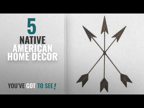 Top 10 Native American Home Decor [2018 ]: Cast Iron Native American Arrow Wall Decor