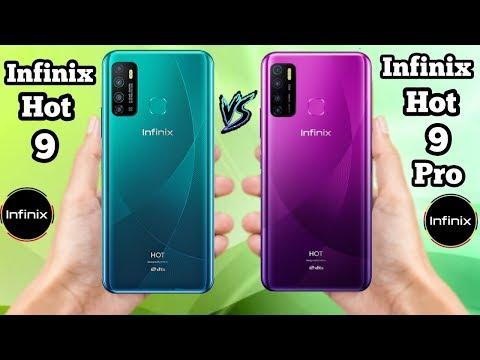 Infinix Hot 9 Pro vs Infinix Hot 9 - OFFICIAL SPECIFICATIONS Comparison