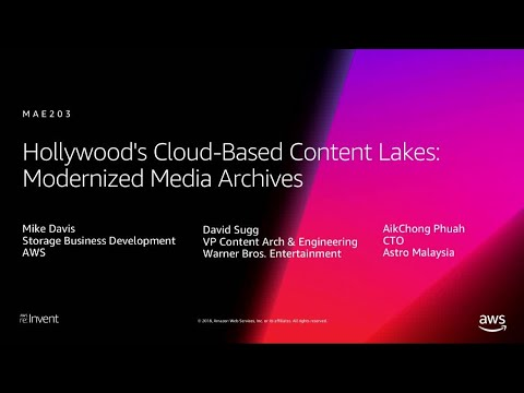 AWS re:Invent 2018: Hollywood's Cloud-Based Content Lakes: Modernized Media Archives (MAE203)