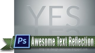 Neat Text Reflection — Photoshop Tutorial