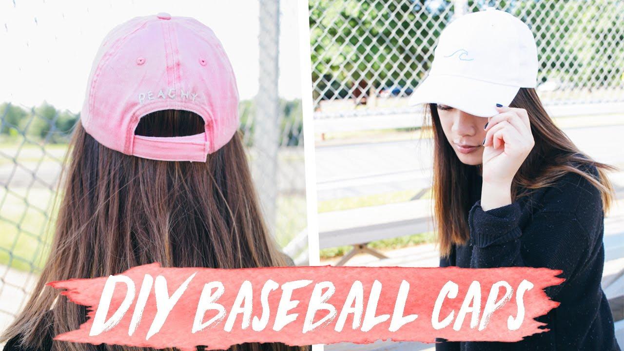 1941b750aa6 DIY Baseball Caps! ✩    Tumblr