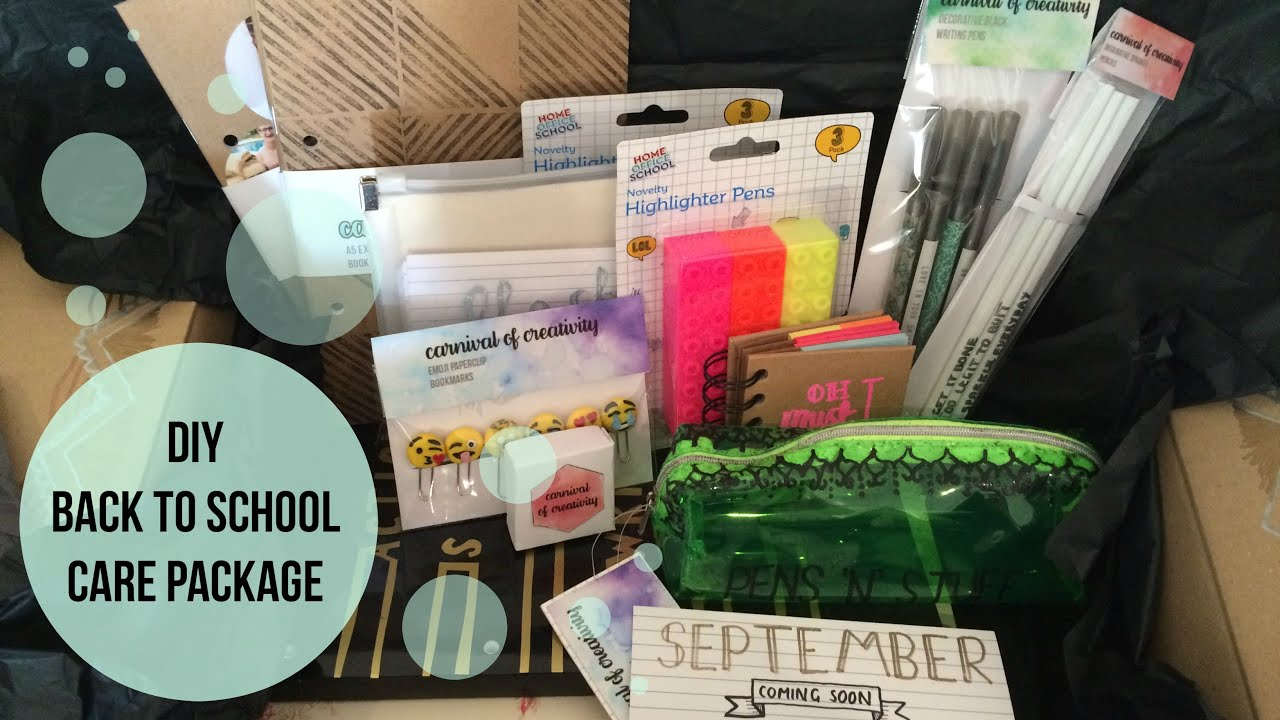 diy care package back to school youtube
