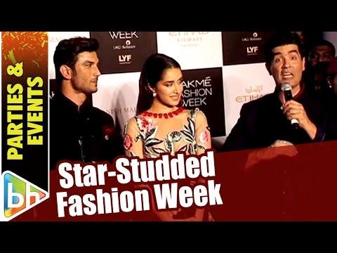 Shraddha Kapoor | Sushant Singh Rajput | Sushmita Sen | Shilpa Shetty | Star-Studded Fashion Week