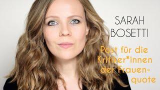 Post von Sarah Bosetti – Folge 15: Post für die Kritiker*innen der Frauenquote