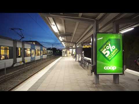 Sweden, Stockholm, Stora Mossen, subway to Alvik, tram to Stora Essingen, 4X elevator, 2X escalator