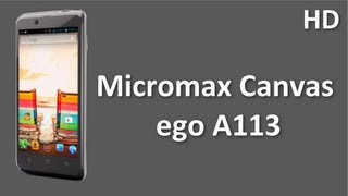 Micromax Canvas ego A113 Price Specification Review come with 1.2 Ghz Quad Core Processor