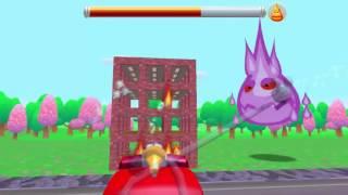 Пожарная машина мультфильм.Мистер огонь.Пожар в городе.Пожарная машина тушит пожар.