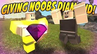 GIVING NOOBS DIAMONDS (BOOGA BOOGA Update) ROBLOX
