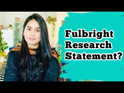 Fulbright Study Research Objectives Statement | Tips For Writing Statement Of Purpose + Examples