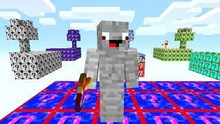 Die ganze Insel besteht aus Shade Blöcken😎💯.. Minecraft LUCKY BLOCK SKYWARS