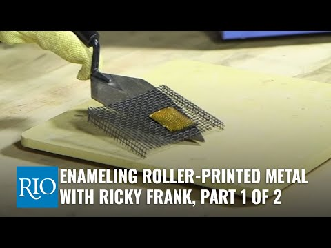 Enameling Roller-Printed Metal, Part 1, with Ricky Frank