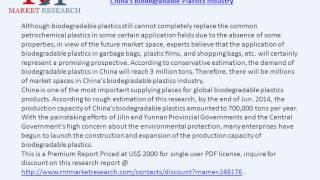 China's Biodegradable Plastics Industry & Global Market Demand