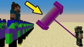 МОД НА НУБ против 1000 КЛОНОВ НУБОВ марсиан херобринов - Троллинг НУБА в Minecraft Серия 05