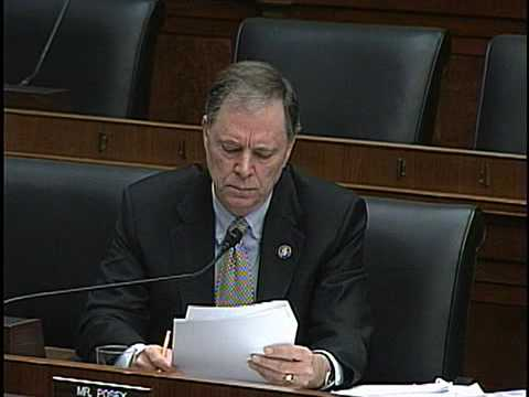 Congressman Posey - Financial Services Committee - March 20, 2009