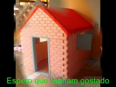 Casinha De Bonecas Para Crianças De Caixas De Leite Tetra Pak