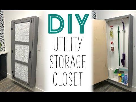 DIY Utility Storage Closet!