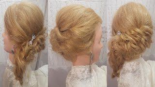 Выпускного вечера прически. Как сделать волосы на свадьбу. Видео-урок обучение прически на бок хвост