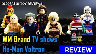 Lego TV Shows WM Bootleg Doctor Who Voltron Prison Break He Man Review 4K