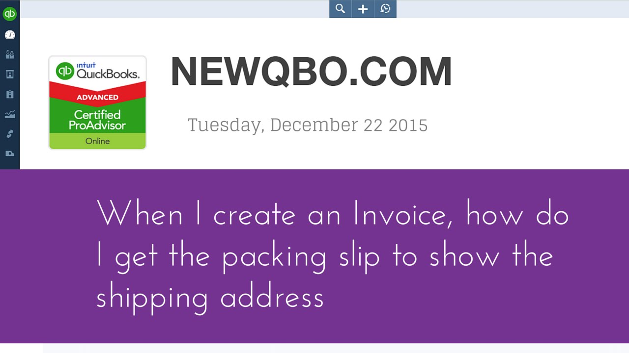 when i create an invoice  how do i get the packing slip to