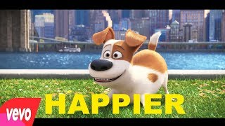 Marshmello ft Bastille - Happier  (UN) PETS 2 dog animation