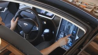 Tesla Model S - All Glass Panoramic Roof (Touchscreen Demonstration)