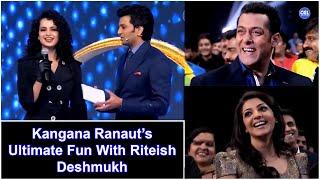 Salman Khan & Kajal Aggarwal Enjoying Kangana Ranaut's Ultimate Fun With Riteish Deshmukh