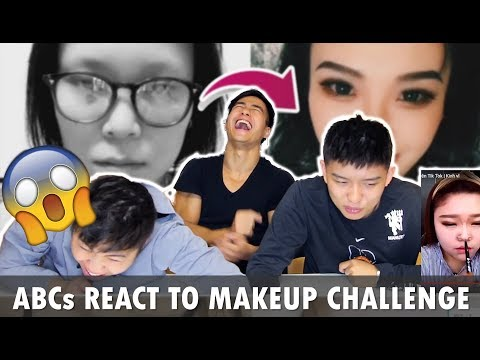 Asian Americans React to Chinese Makeup Challenge  - The Power of Makeup Tik Tok- ABC