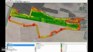 Vypínání sekcí Trimble Field-IQ - animovaný záznam aplikace v softwaru Farm Works Mapping – větší po