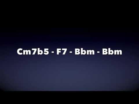 Bb Minor 2-5-1 Jazz Backing Track (Medium Swing)