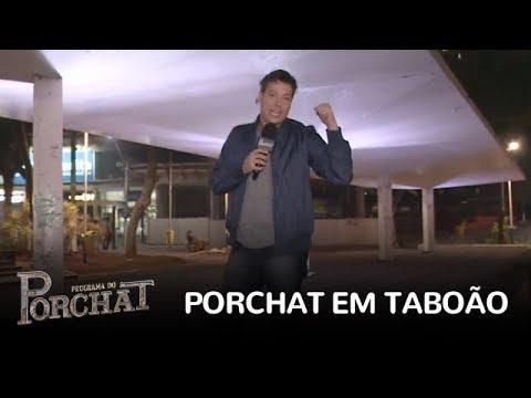 Porchat invade a casa dos moradores e faz bagunça em Taboão da Serra