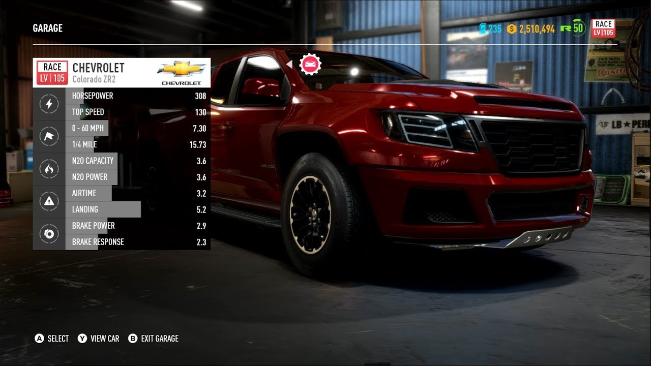 Need For Speed Payback Chevy Colorado Zr2 Customization New