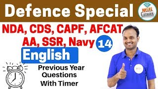 11:00 PM - Defence Special English by Sanjeev Sir | Day #14 | Previous Year Questions