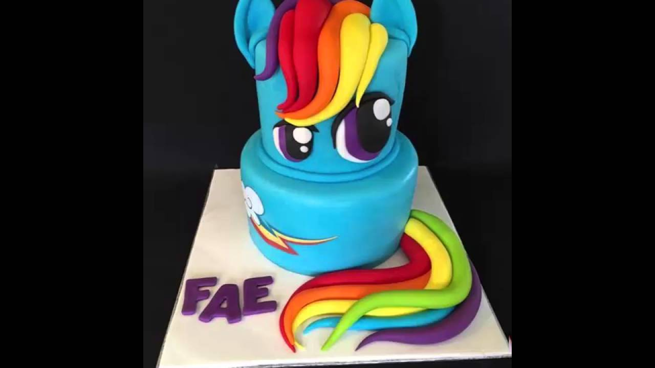 How To Bake My Little Pony Rainbow Dash Cake Easy Youtube