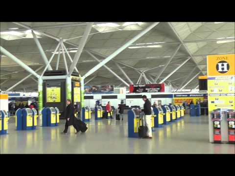 London Stansted Airport check in and departures area