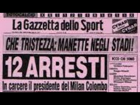 TOTONERO E Lo SCANDALO CALCIO SCOMMESSE Degli Anni '80 Che Ha Mandato Il Milan In Serie B