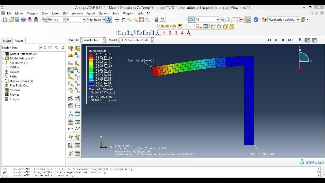 Abaqus Tutorials - 2D frame analysis in Abaqus
