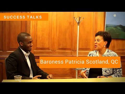 Success Talks with Baroness Patricia Scotland, QC