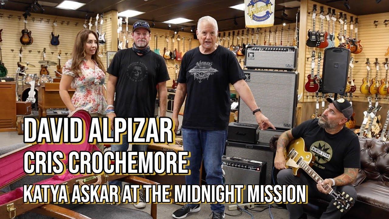 Richie Sambora signed Gibson Goldtop Auction Winner David Alpizar with Cris Crochemore
