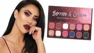 DOMINIQUE COSMETICS BERRIES & CREAM PALETTE REVIEW + SWATCHES | BrittanyBearMakeup