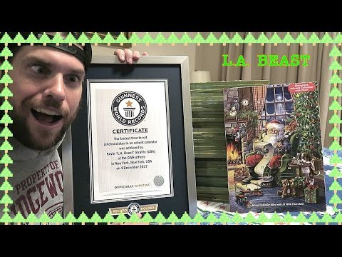 NEW Guinness World Records Title | Fastest Time to Eat All Chocolates From an Advent Calendar