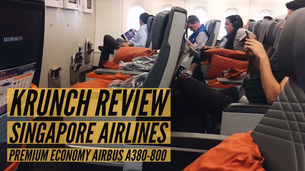 Singapore Airlines SQ406 - Premium Economy A380-800 | KRUNCH REVIEW ...