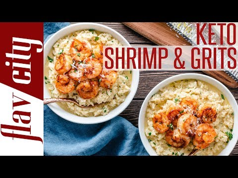 How To Make Shrimp and Cauliflower Grits Easy Keto and Low Carb Recipe
