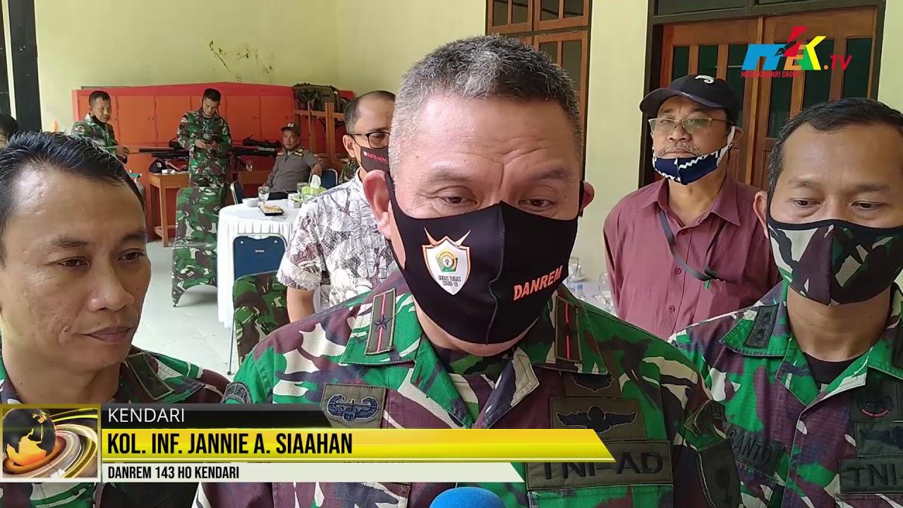 Korem 143 Halu Oleo Jalin Silaturahmi Dengan Pimpinan Media