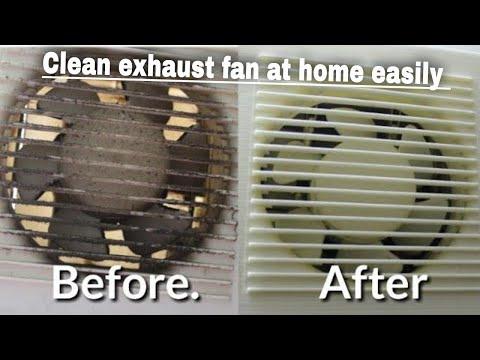 रसोईघर के गंदे चिपचिपे पंखे को आसान तरीके से साफ करें||How To easily clean Greasy Exhaust fan..