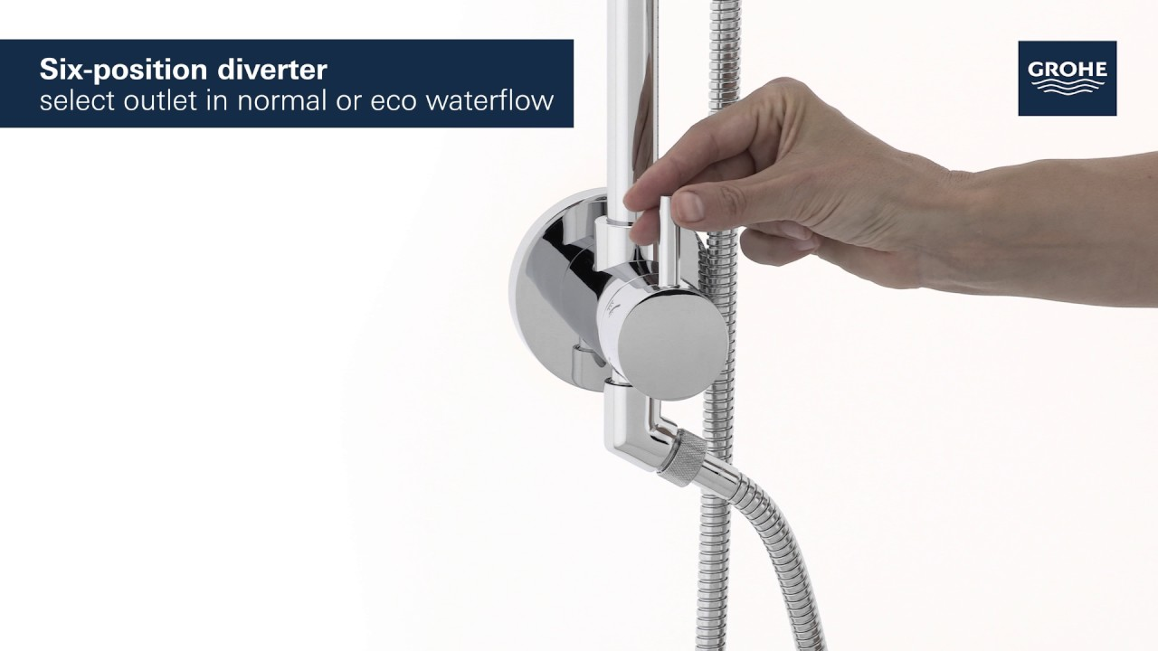 GROHE | Retro-fit Shower System | Standard Shower Arm, 18"|1280|720|?|en|2|75885fc491cc1160b61eb96b224e0179|False|UNLIKELY|0.3264342248439789